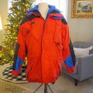 Vintage Men's Columbia Coat With Fleece Jacket